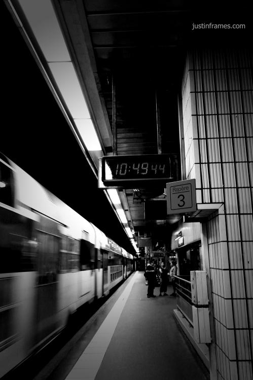 In the Parisian metro